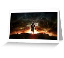 Battlefield sunset Greeting Card
