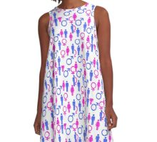 Men and Women Icons   A-Line Dress