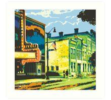 Rivoli & Washington House Inn - Cedarburg WI (bold) SQUARE Art Print