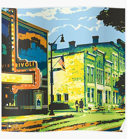 Rivoli & Washington House Inn - Cedarburg WI (bold) SQUARE Poster