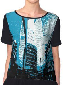 Skyscraper Reflection Chiffon Top