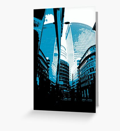 Skyscraper Reflection Greeting Card