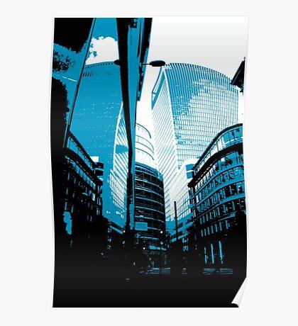 Skyscraper Reflection Poster