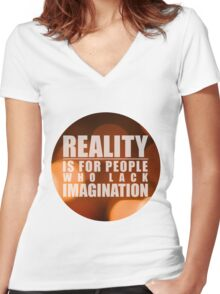 Reality As I Recalled Women's Fitted V-Neck T-Shirt