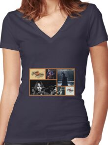 Tribute to Neil Women's Fitted V-Neck T-Shirt
