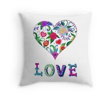 Love is all in the coloring Throw Pillow