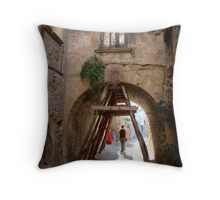 Holding Up Somebody's World Throw Pillow