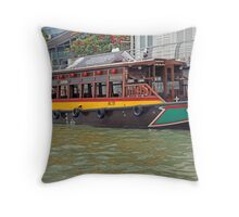 Canal Cruiser Throw Pillow