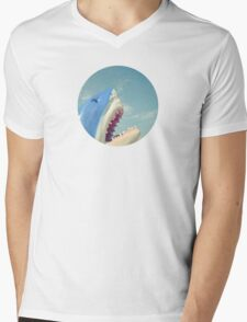 Shark Mens V-Neck T-Shirt