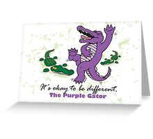 Greeting Card - Purple Gator Greeting Card