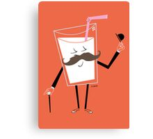 Milk Mustache Canvas Print
