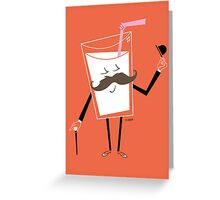 Milk Mustache Greeting Card