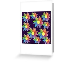 Rainbow blossom Greeting Card