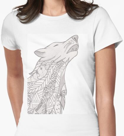 Aurora the Wolf Womens Fitted T-Shirt