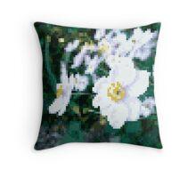 different 8bit flower Throw Pillow