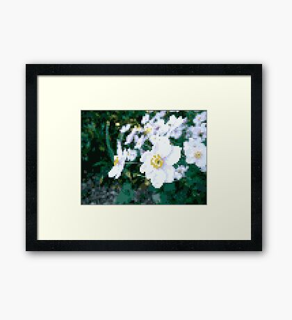 different 8bit flower Framed Print