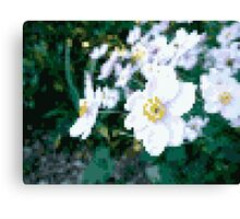 different 8bit flower Canvas Print