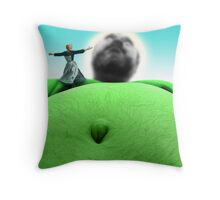 The sound of 肥満 Throw Pillow