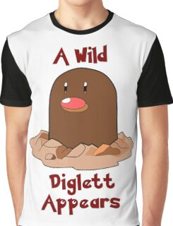 Pokemon Diglett Graphic T-Shirt