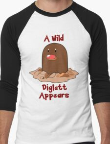 Pokemon Diglett Men's Baseball ¾ T-Shirt