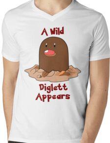 Pokemon Diglett Mens V-Neck T-Shirt