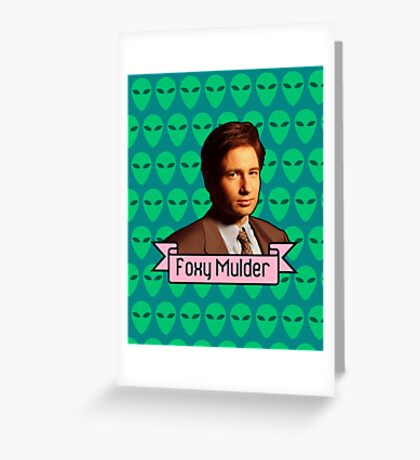 Foxy Mulder ft. Aliens Greeting Card