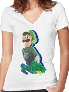 LUIGI TIME! Women's Fitted V-Neck T-Shirt