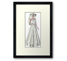 Blond , Successful, Loving and Beautiful Brazilian American Australian Woman Wearing Fancy and Gorgeous Beige Dress Framed Print