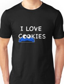 Cookie Monster I love cookies Unisex T-Shirt