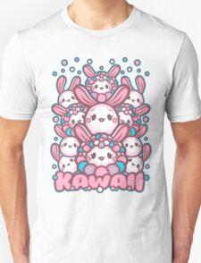 Kawaii Bunny and Friends. Kawaii Dust Bunnies and Friends. Adorable bunniess Unisex T-Shirt