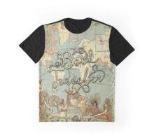 Book Traveler Vintage Map v2 Graphic T-Shirt