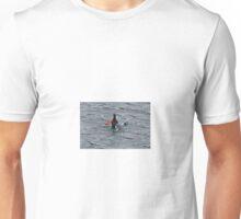 Black guillemot diving for lunch. Unisex T-Shirt