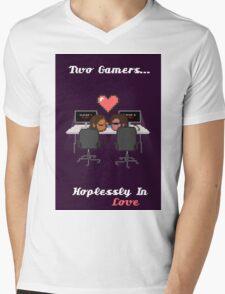 Cute Gamer Couple Mens V-Neck T-Shirt