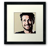 Gerard Butler coloured Framed Print