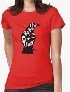 Crow Babe Power Black Womens Fitted T-Shirt