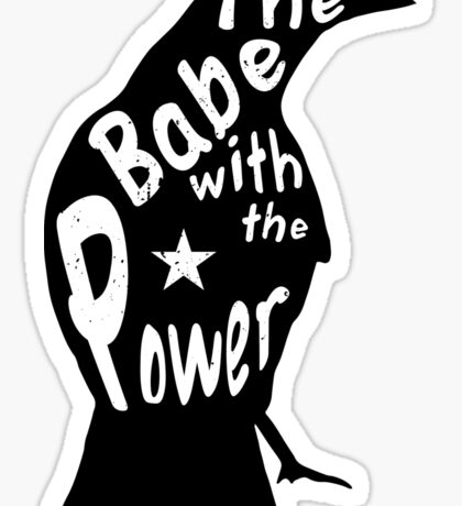 Crow Babe Power Black Sticker