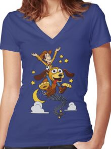 The Neverending Toy Story Women's Fitted V-Neck T-Shirt