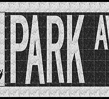 Park Avenue Deco Swing Street Sign  by CecelyBloom