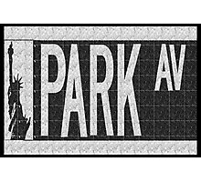 Park Avenue Deco Swing Street Sign  Photographic Print