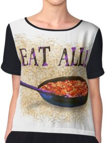 Eat All (Bud Spencer tribute) Chiffon Top