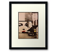 Marylin smokes Winston Framed Print