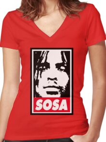 Sosa ( Chief Keef )  Women's Fitted V-Neck T-Shirt