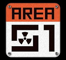 Area 51 Sign by Aengel