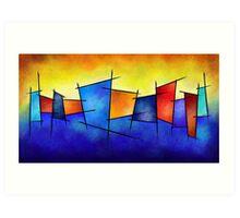 Esseniumos V1 - square abstract Art Print