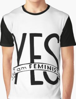 Words Yes,  I am feminist. Feminism quote.  Graphic T-Shirt