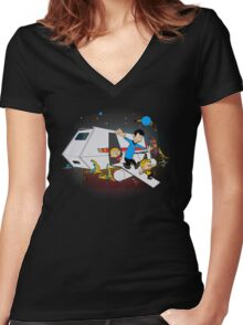To Boldy Go....Beyond Women's Fitted V-Neck T-Shirt
