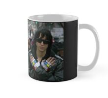 Everyone was wearing fingerless gloves  Mug