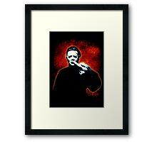 HALLOWEEN Michael Myers Finger Design Framed Print