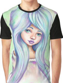 Rainbow Girl - Emo Mermaid Hair  Graphic T-Shirt