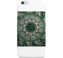 colour green mandala iPhone Case/Skin